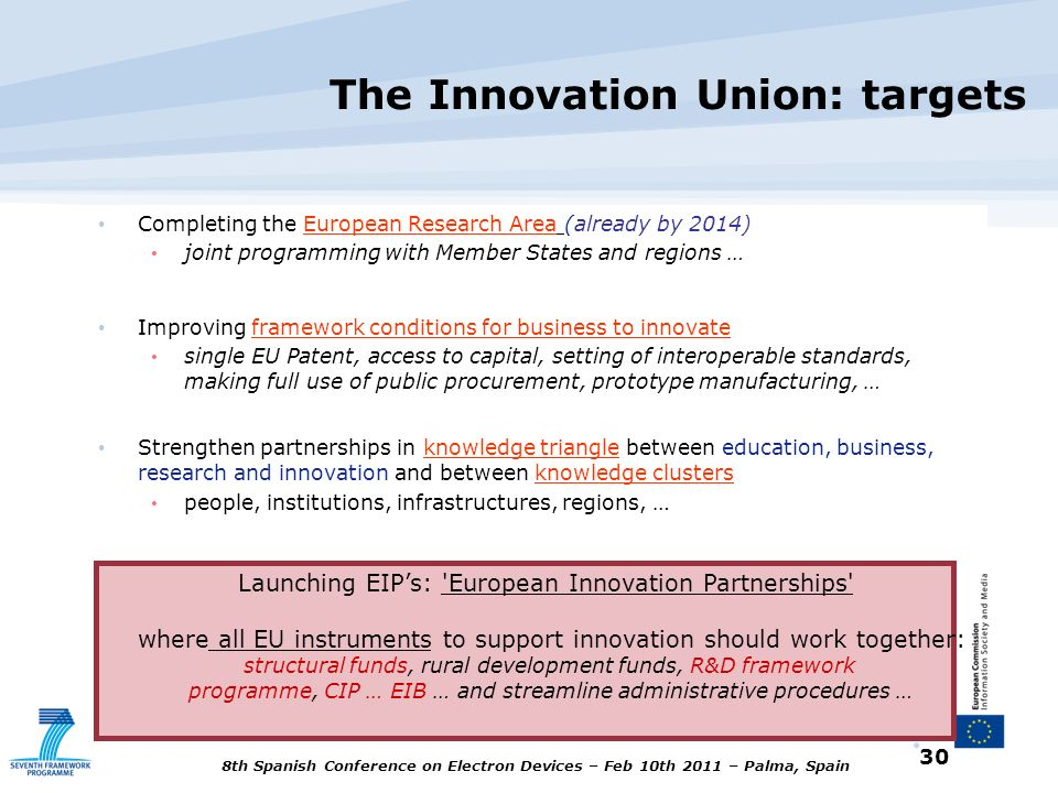 The Innovation Union: targets