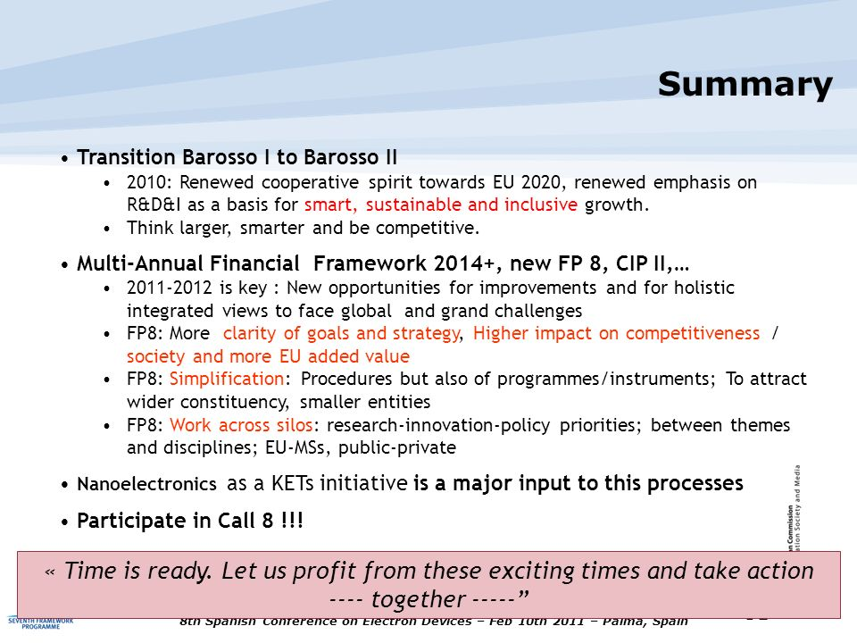 Summary Transition Barosso I to Barosso II.