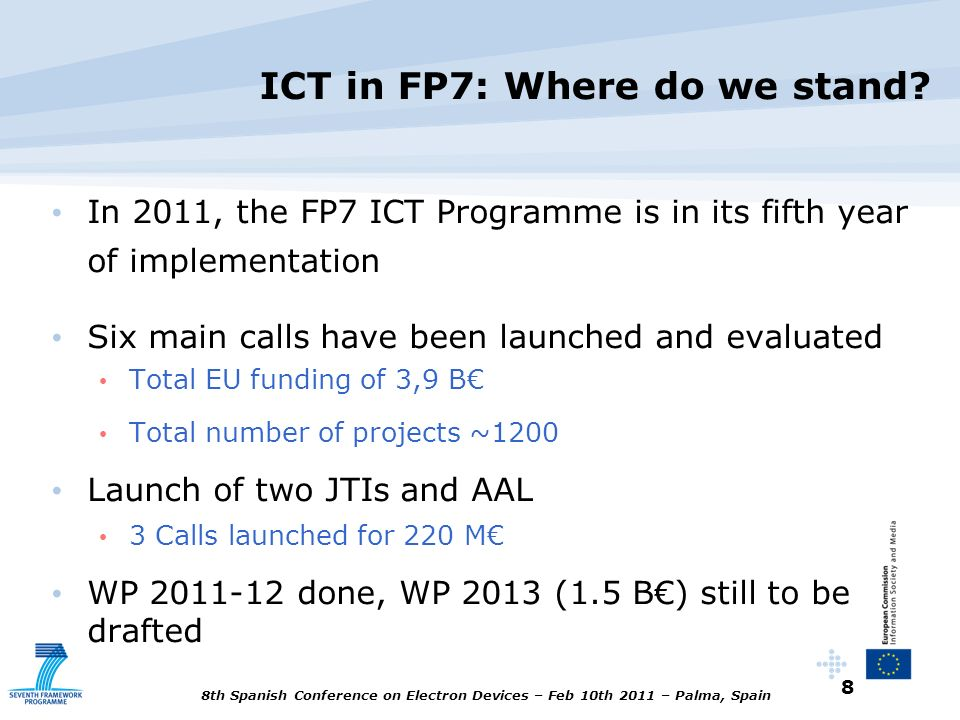 ICT in FP7: Where do we stand