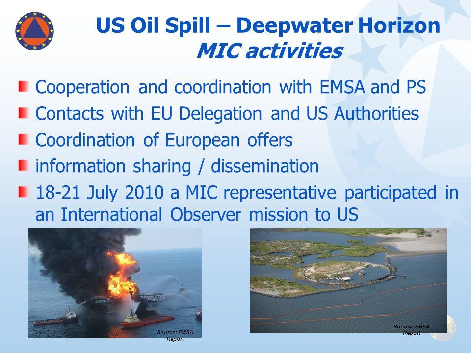 US Oil Spill – Deepwater Horizon MIC activities