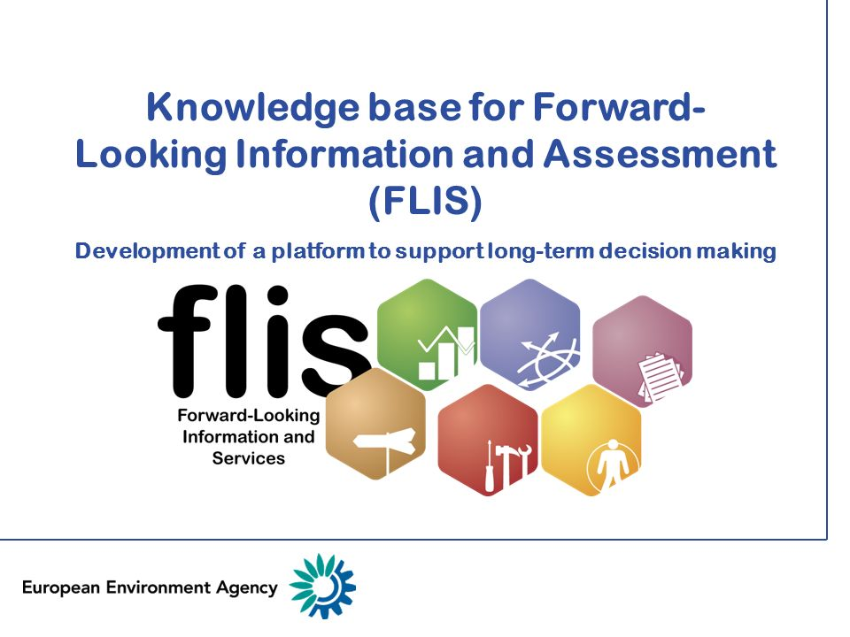 Knowledge base for Forward-Looking Information and Assessment (FLIS) Development of a platform to support long-term decision making