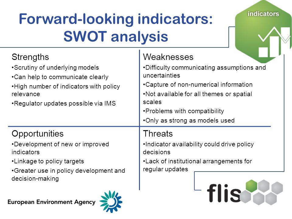 Forward-looking indicators: SWOT analysis