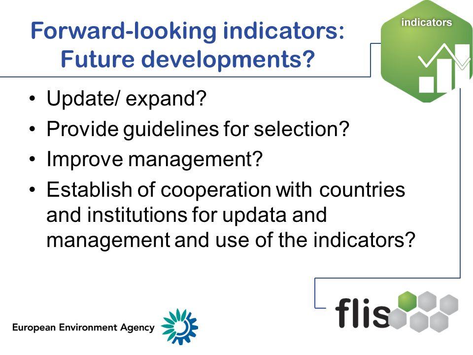 Forward-looking indicators: Future developments