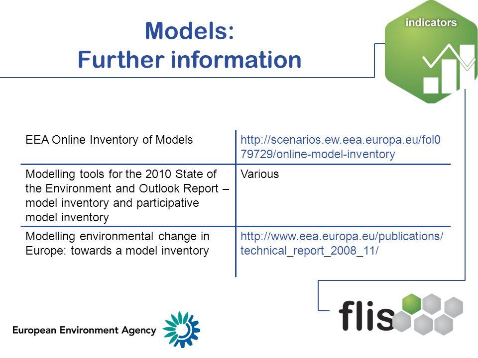 Models: Further information