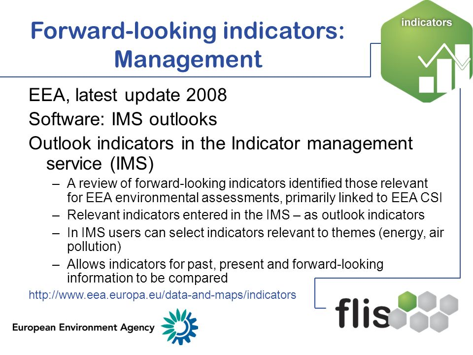 Forward-looking indicators: Management