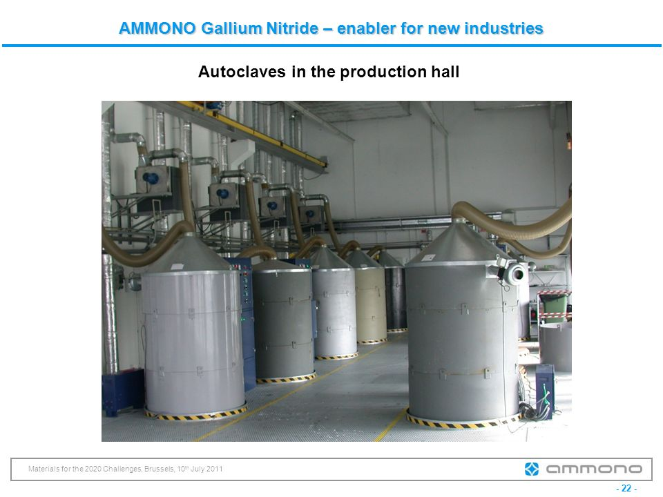 Autoclaves in the production hall