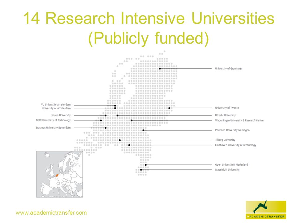 14 Research Intensive Universities (Publicly funded)