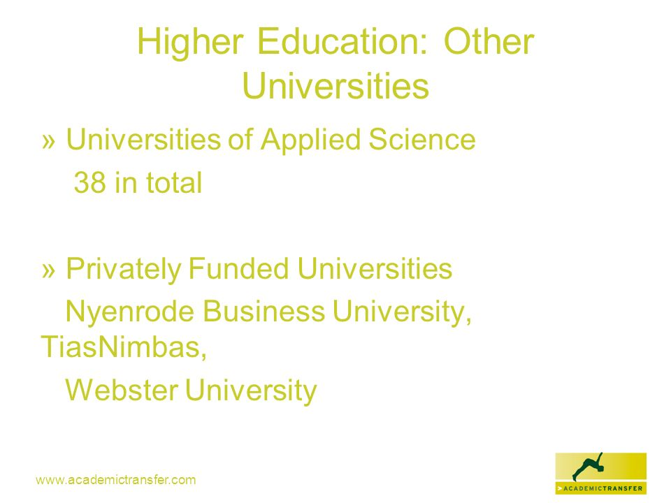 Higher Education: Other Universities