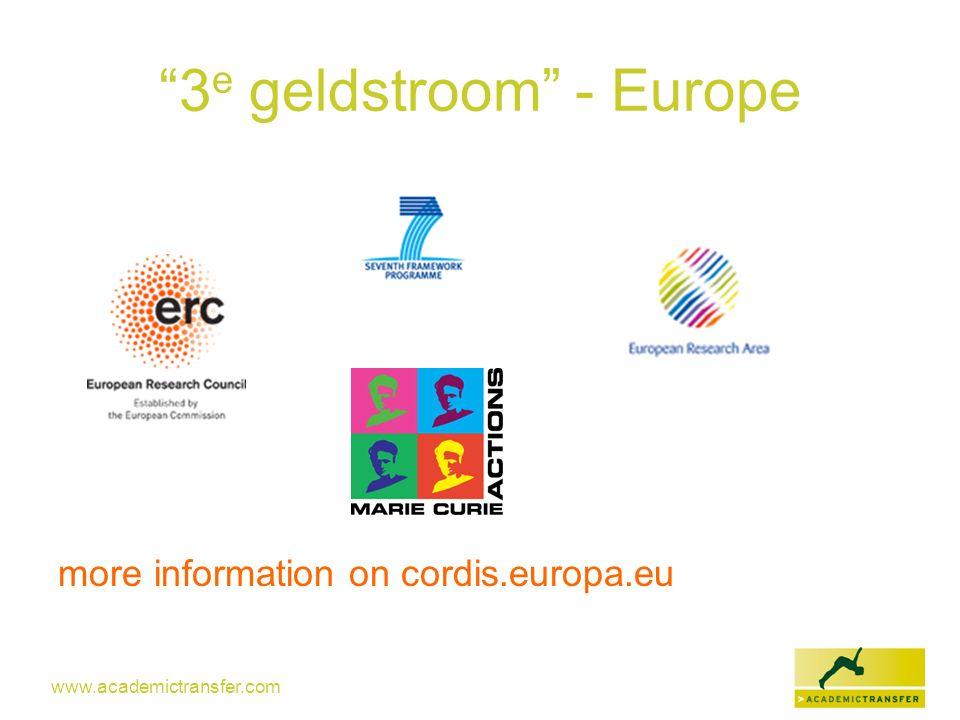 3e geldstroom - Europe