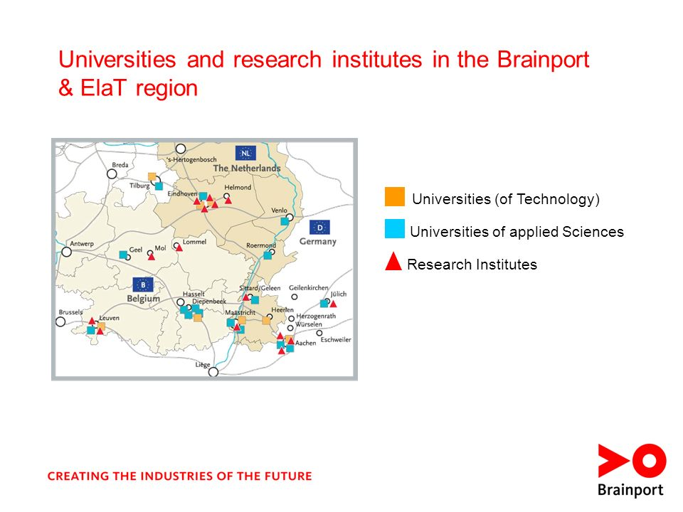 Universities and research institutes in the Brainport & ElaT region