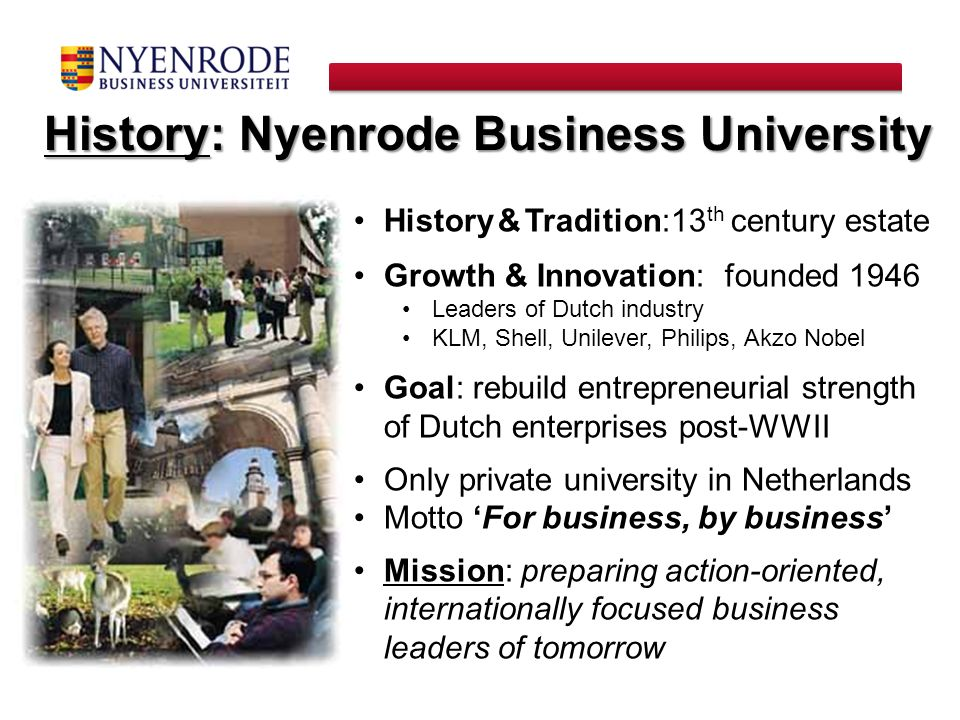 History: Nyenrode Business University