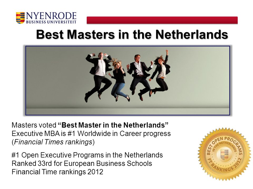 Best Masters in the Netherlands