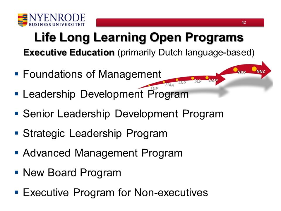 Life Long Learning Open Programs
