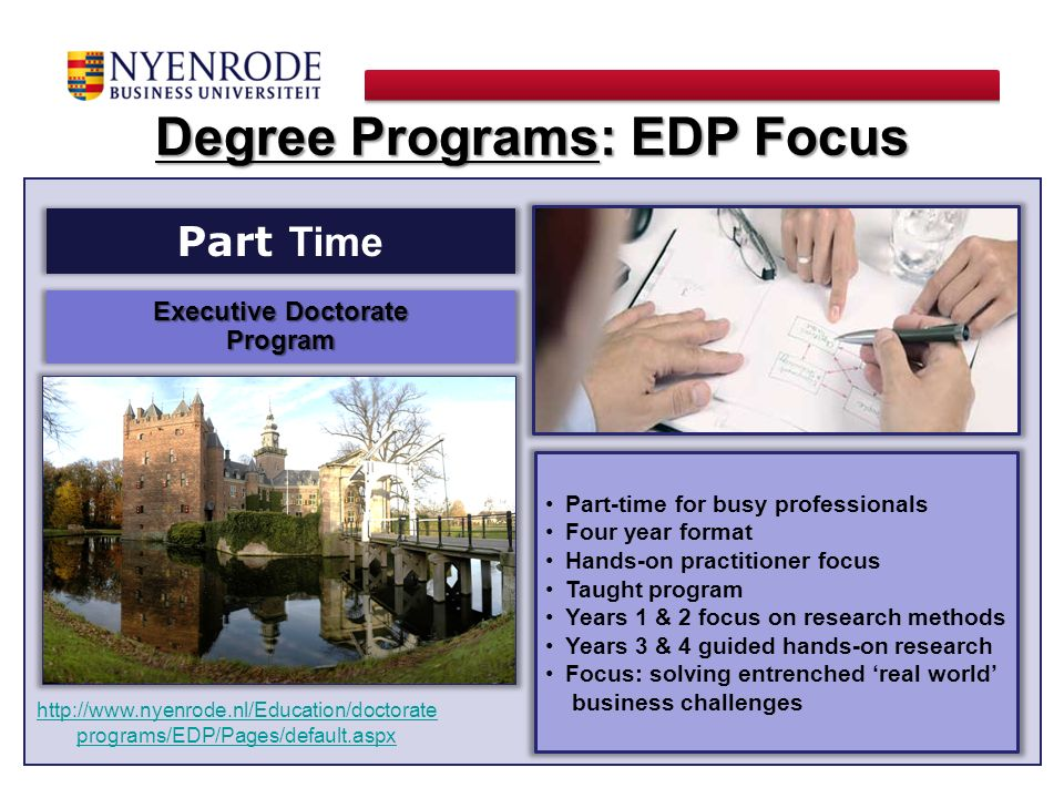 Degree Programs: EDP Focus