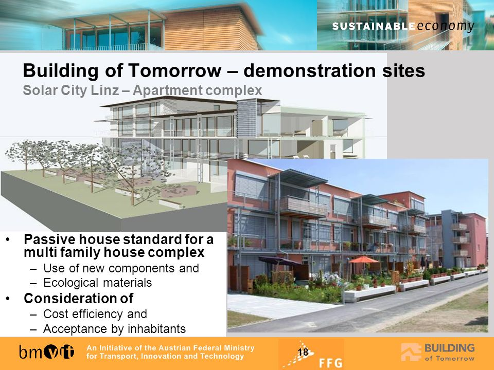 Building of Tomorrow – demonstration sites Solar City Linz – Apartment complex