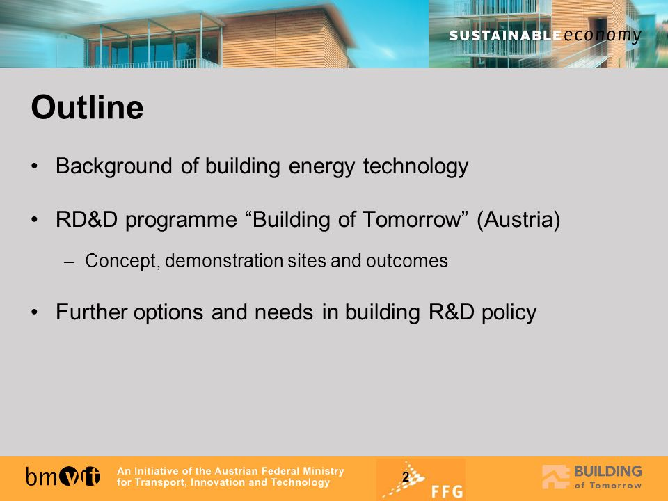 Outline Background of building energy technology