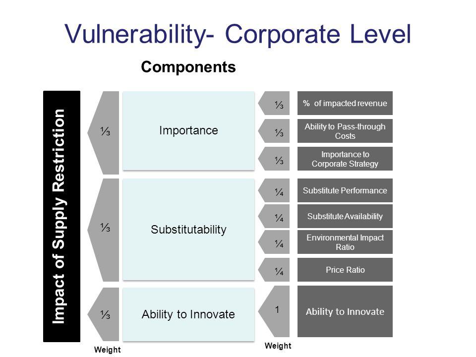 Vulnerability- Corporate Level