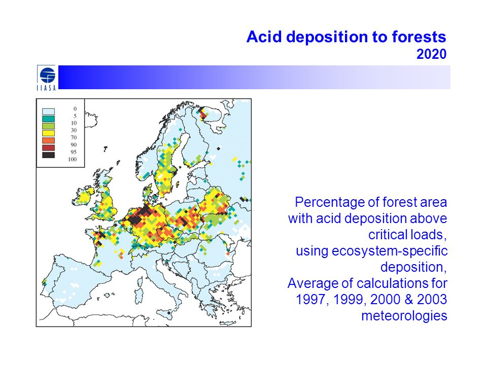 Acid deposition to forests 2020