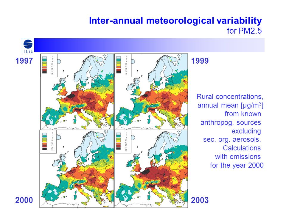 Inter-annual meteorological variability for PM2.5