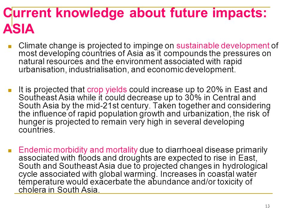 Current knowledge about future impacts: ASIA