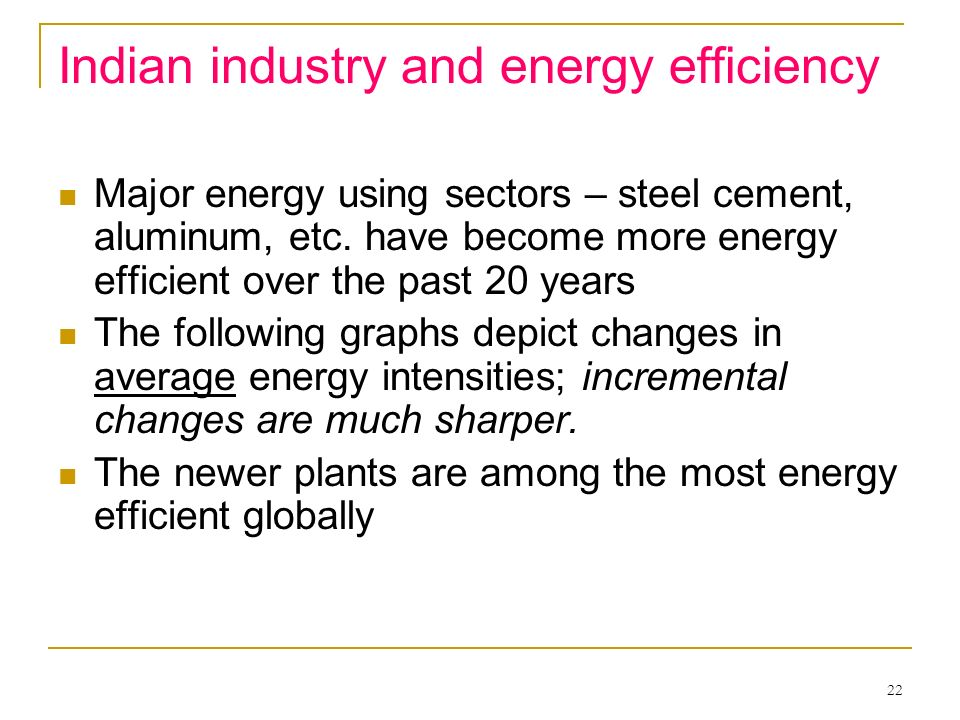 Indian industry and energy efficiency
