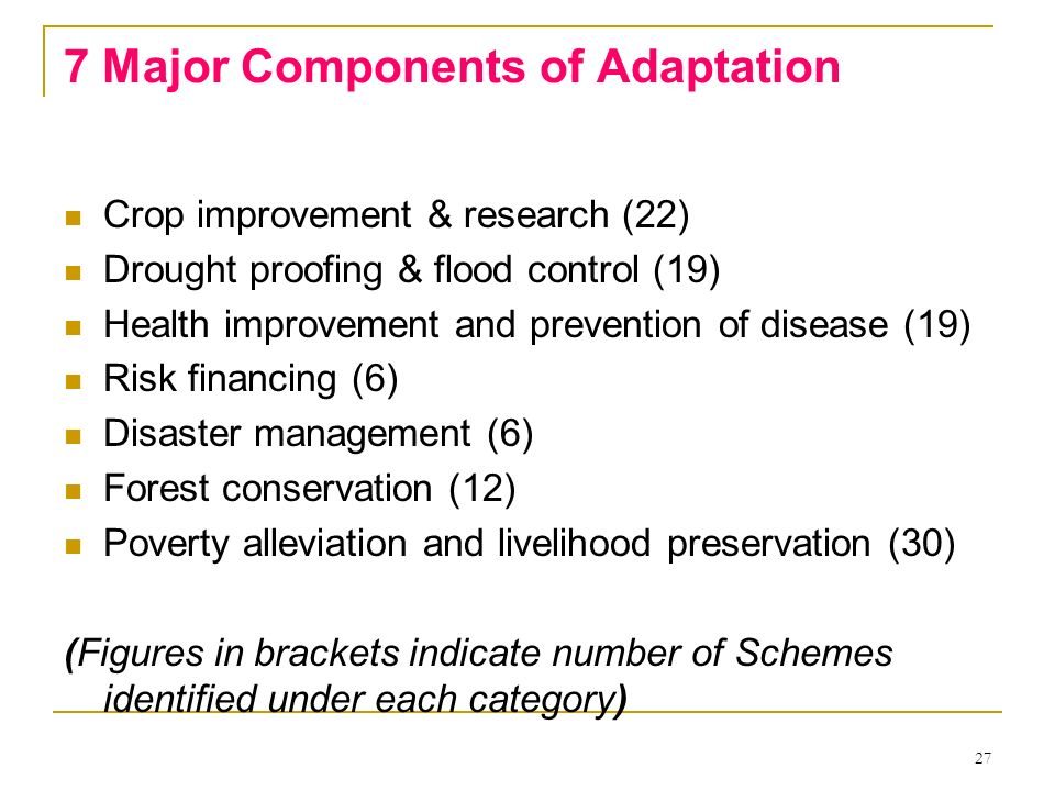 7 Major Components of Adaptation