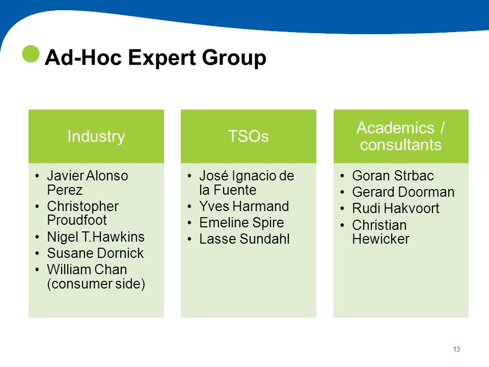 Academics / consultants