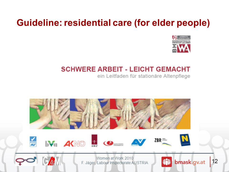Guideline: residential care (for elder people)