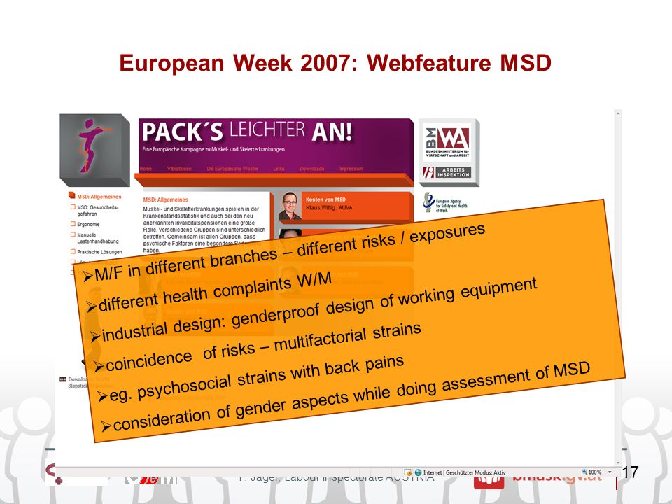 European Week 2007: Webfeature MSD