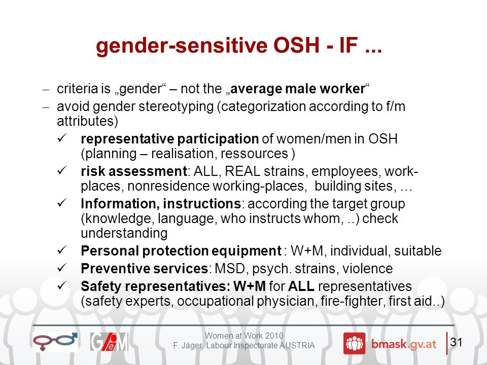 gender-sensitive OSH - IF ...