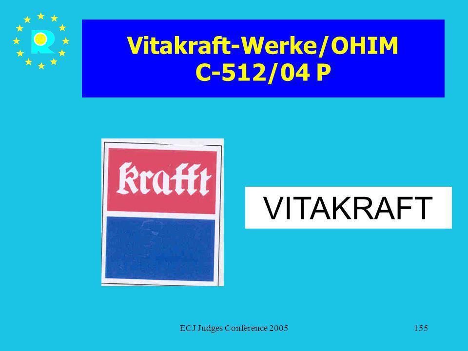Vitakraft-Werke/OHIM C-512/04 P