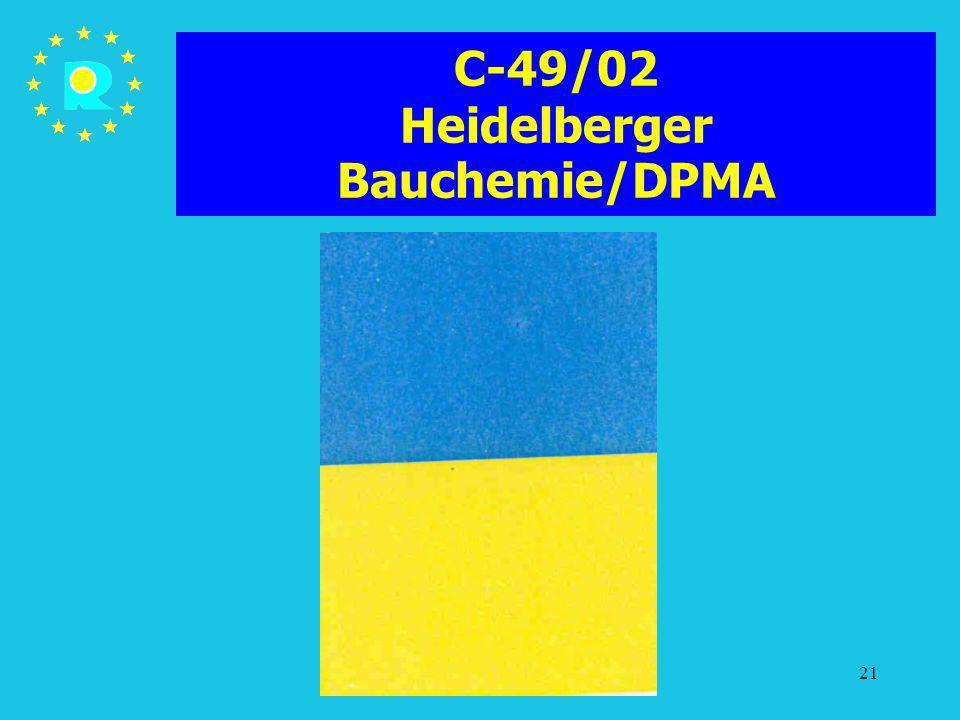 C-49/02 Heidelberger Bauchemie/DPMA