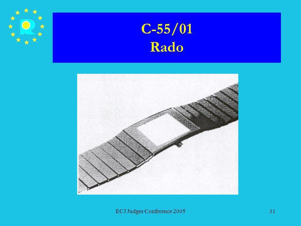 C-55/01 Rado ECJ Judges Conference 2005
