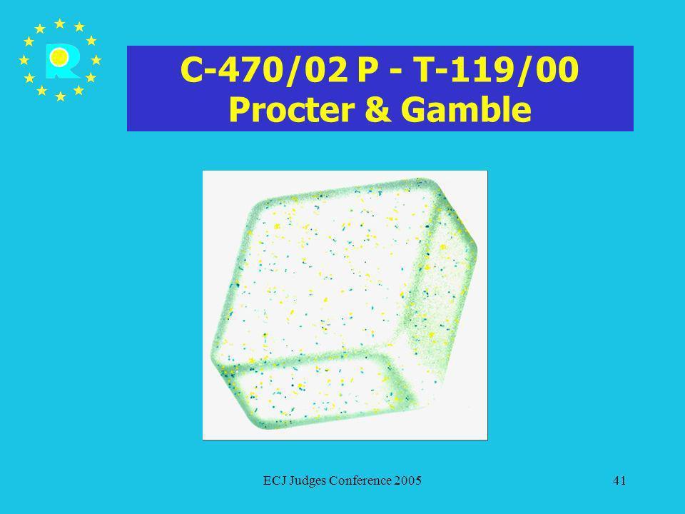 C-470/02 P - T-119/00 Procter & Gamble