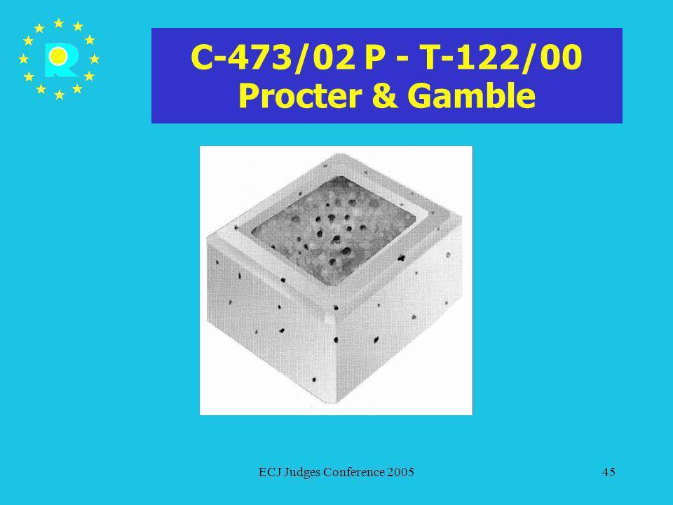 C-473/02 P - T-122/00 Procter & Gamble