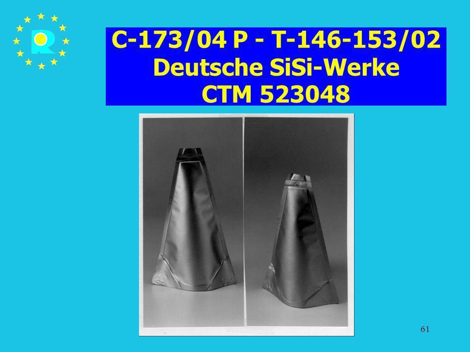 C-173/04 P - T-146-153/02 Deutsche SiSi-Werke CTM 523048