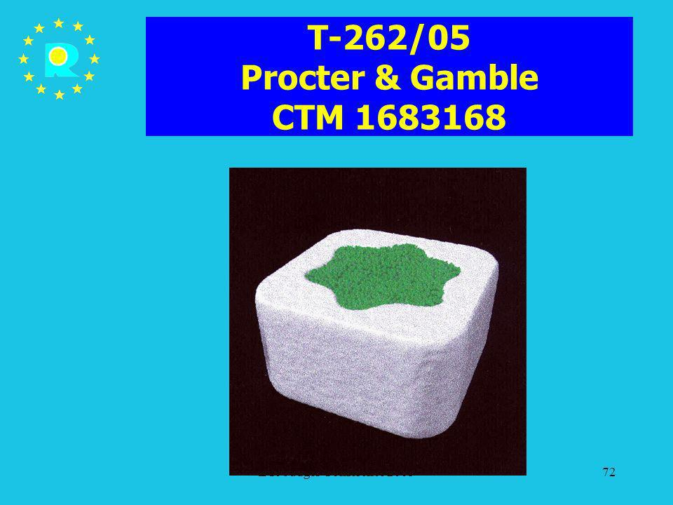 T-262/05 Procter & Gamble CTM 1683168