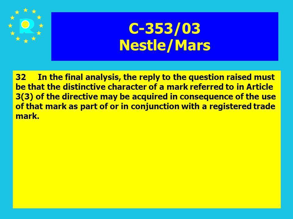 C-353/03 Nestle/Mars