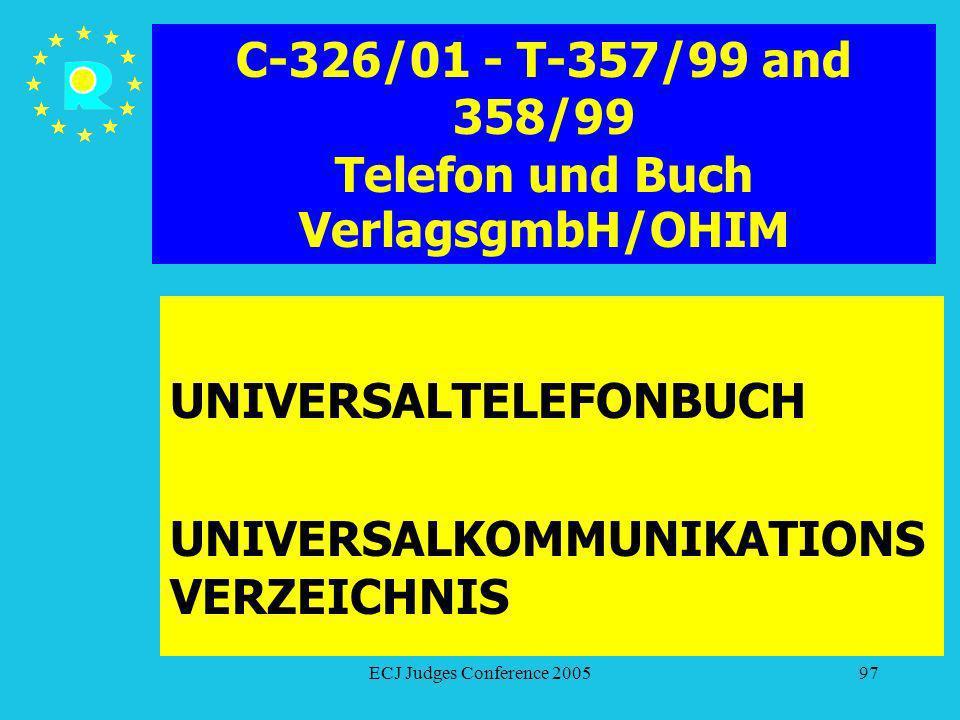 C-326/01 - T-357/99 and 358/99 Telefon und Buch VerlagsgmbH/OHIM