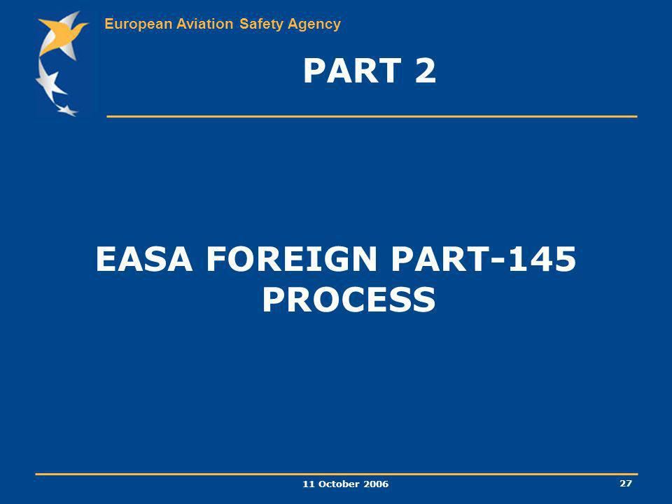 EASA FOREIGN PART-145 PROCESS