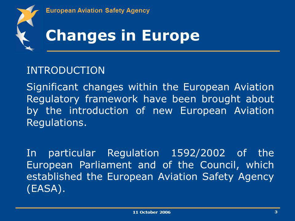 Changes in Europe INTRODUCTION