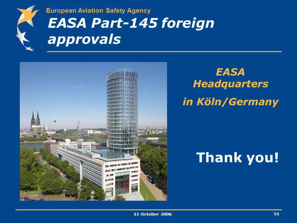 EASA Part-145 foreign approvals