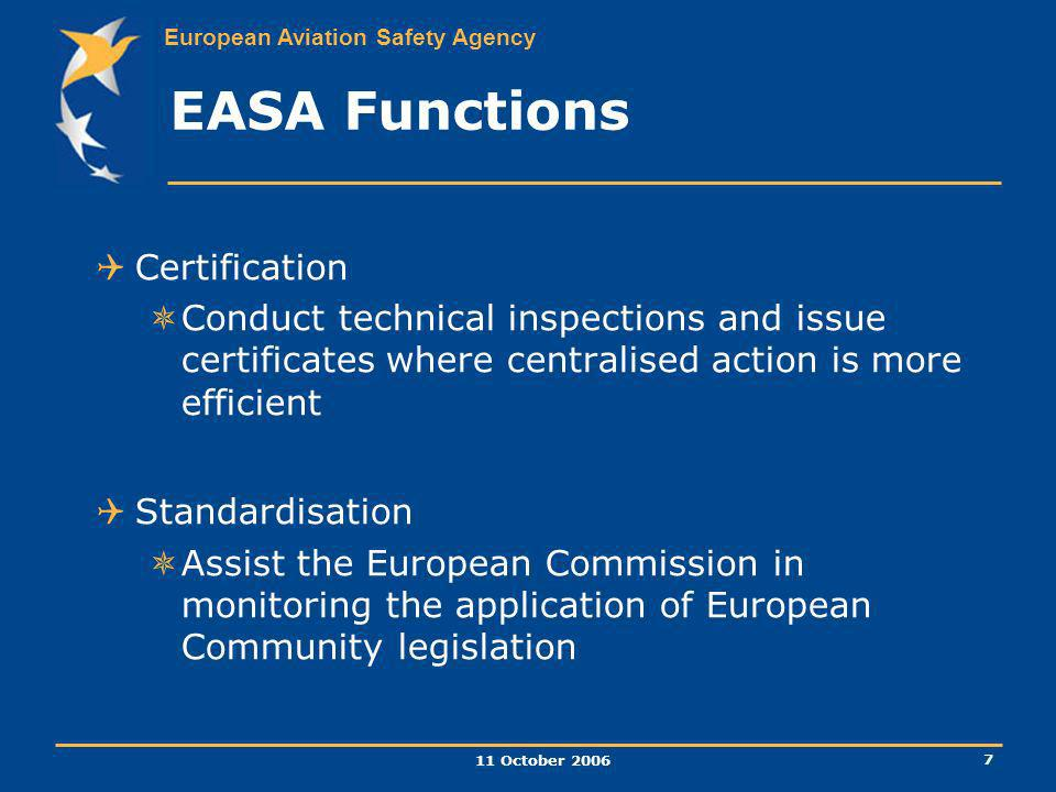 EASA Functions Certification