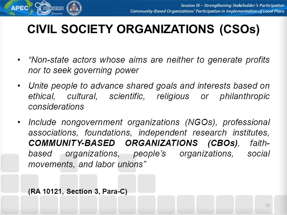 Community-Based Organizations' Participation - ppt video ...
