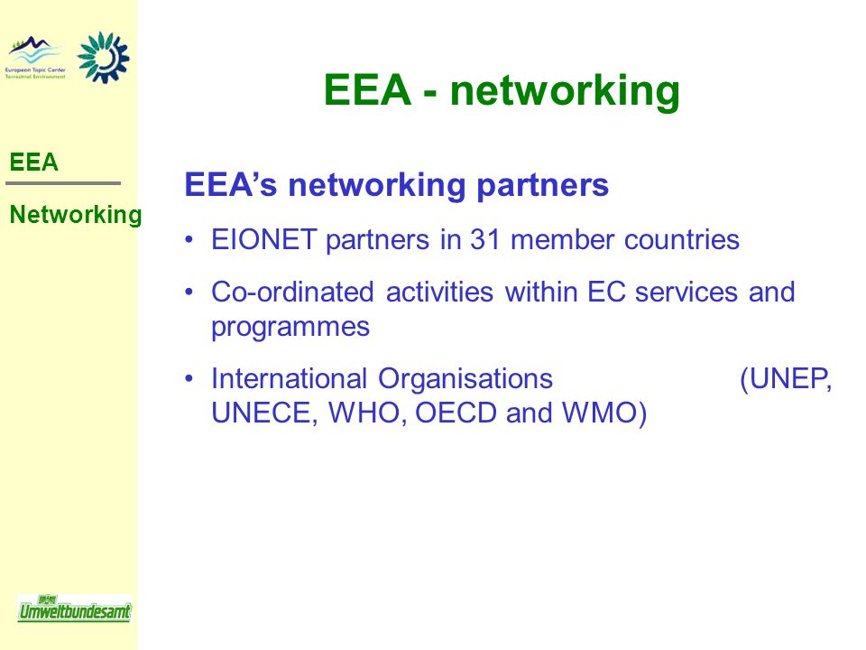 EEA - networking EEA's networking partners