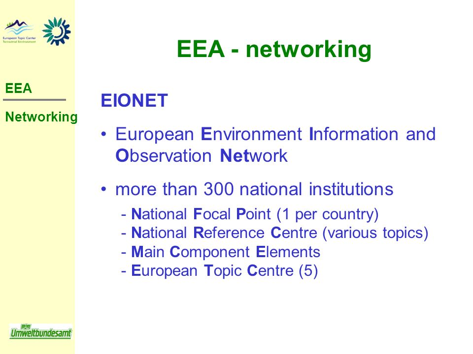 EEA - networking EIONET