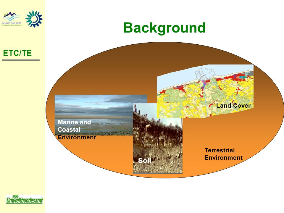 Background ETC/TE Soil Land Cover Marine and Coastal Environment