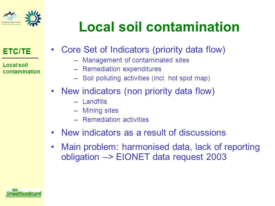 Local soil contamination