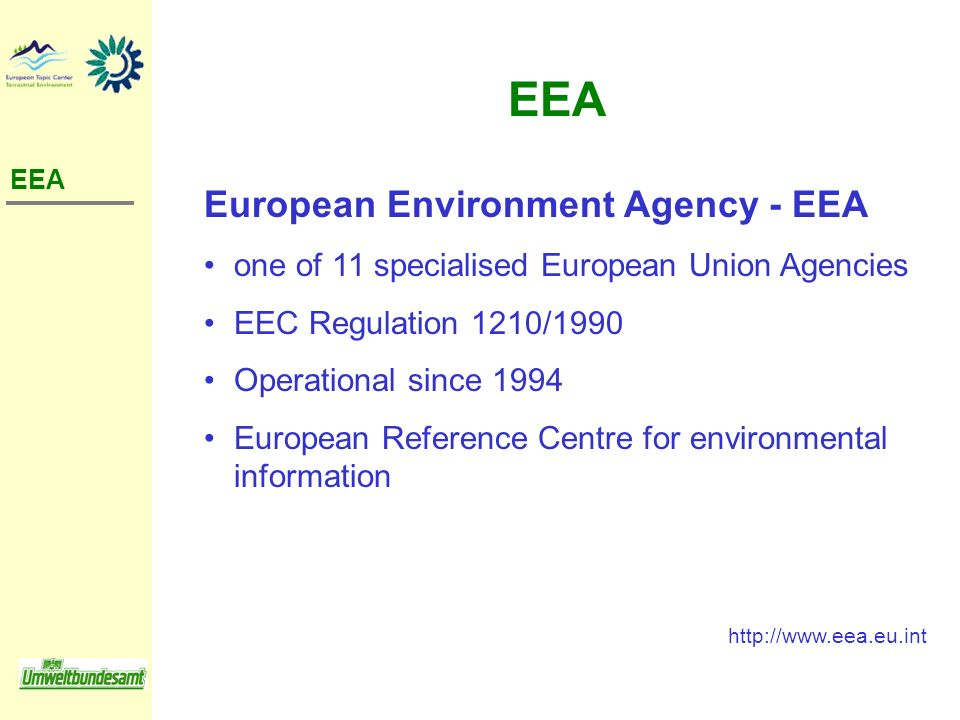 EEA European Environment Agency - EEA