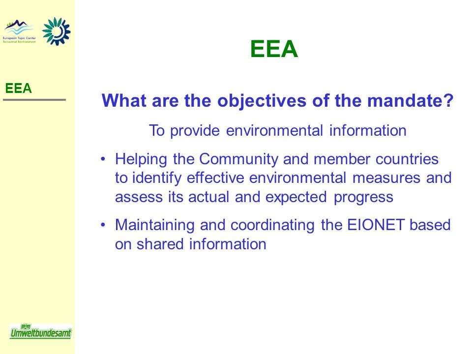 What are the objectives of the mandate